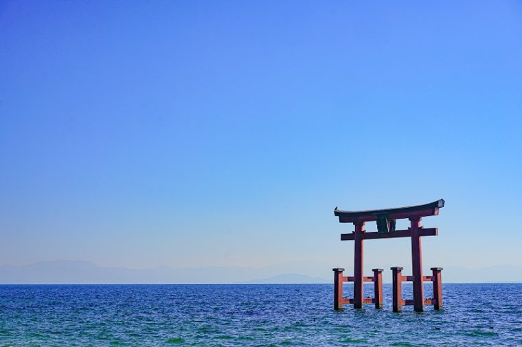 白髭神社の大鳥居|近江の厳島
