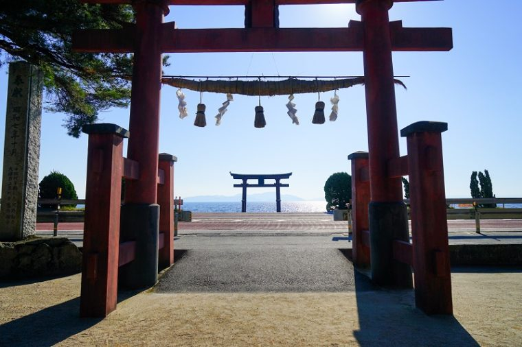 近江の厳島「白髭神社の大鳥居」