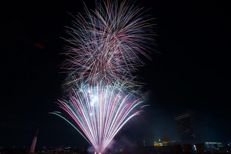 堺大魚夜市の花火