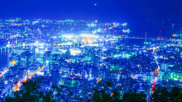 徳島旅行「眉山からの夜景」