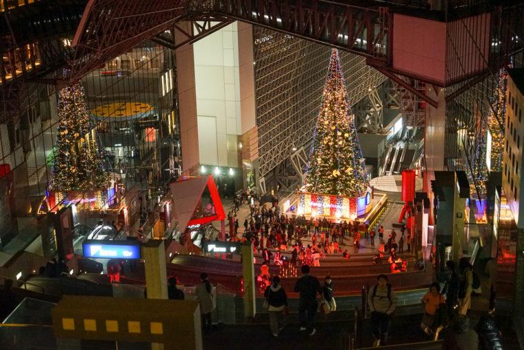 京都駅ビルクリスマスイルミネーション