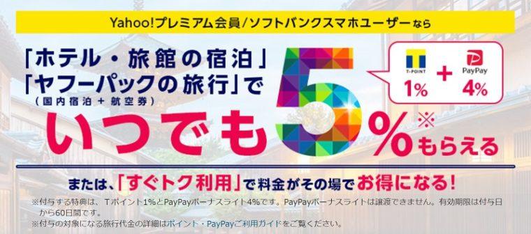 Yahoo!(ヤフー)トラベルのクーポン・キャンペーンまとめ