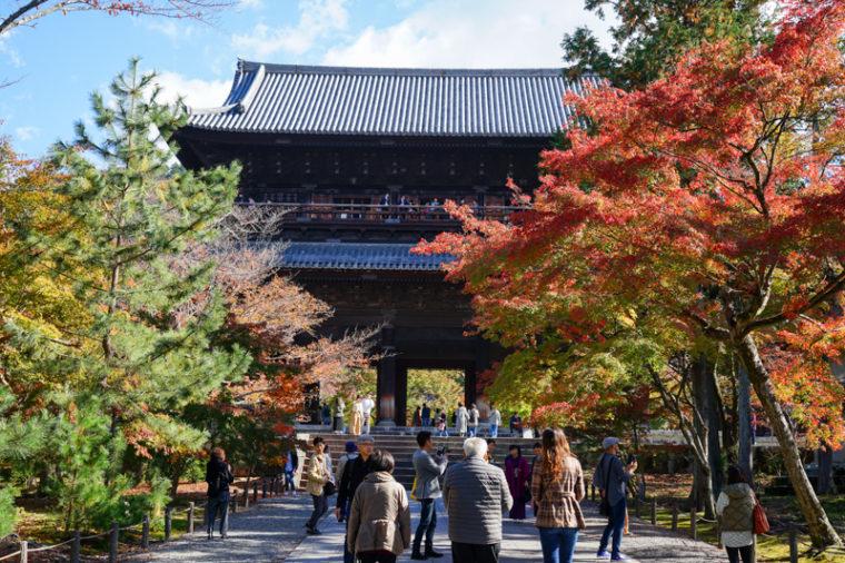 京都の紅葉スポット「南禅寺」