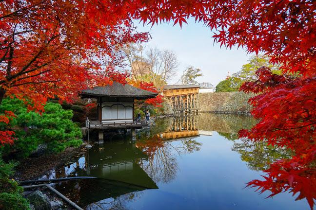 関西・和歌山のおすすめ紅葉スポット「和歌山城西之丸庭園(紅葉谷亭)」
