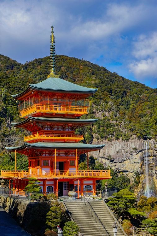 熊野那智大社|青岸渡寺・三重の塔と那智の滝