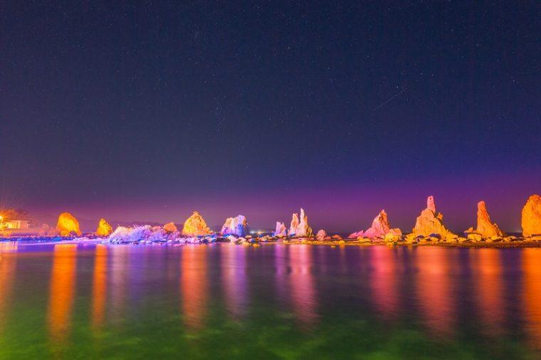 橋杭岩|ライトアップ