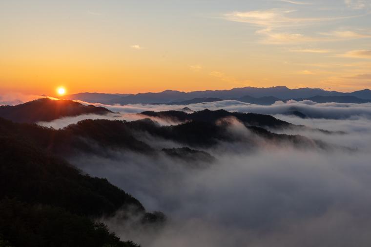 奈良のおすすめ絶景スポット「野迫川村の雲海」
