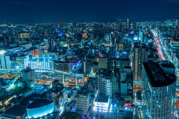 大阪梅田の夜景スポット「大阪駅前第3ビル」|夜景写真とアクセスを紹介