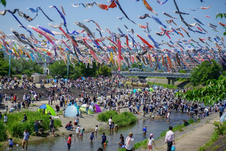 大阪の絶景「こいのぼりフェスタ1000」