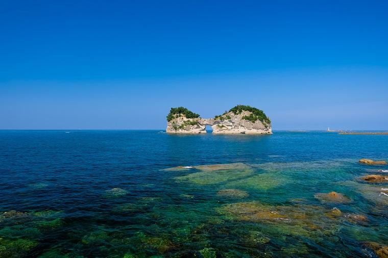 和歌山県白浜町の円月島