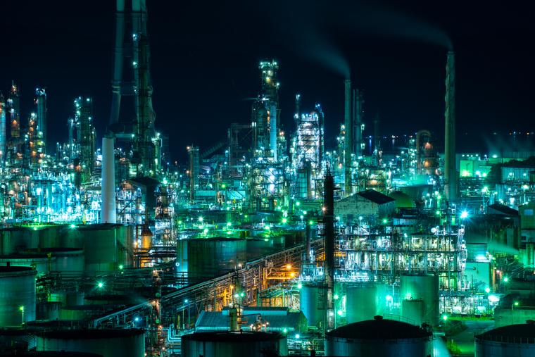 和歌山の工場夜景「ENEOS和歌山製油所(旧東燃ゼネラル石油)」