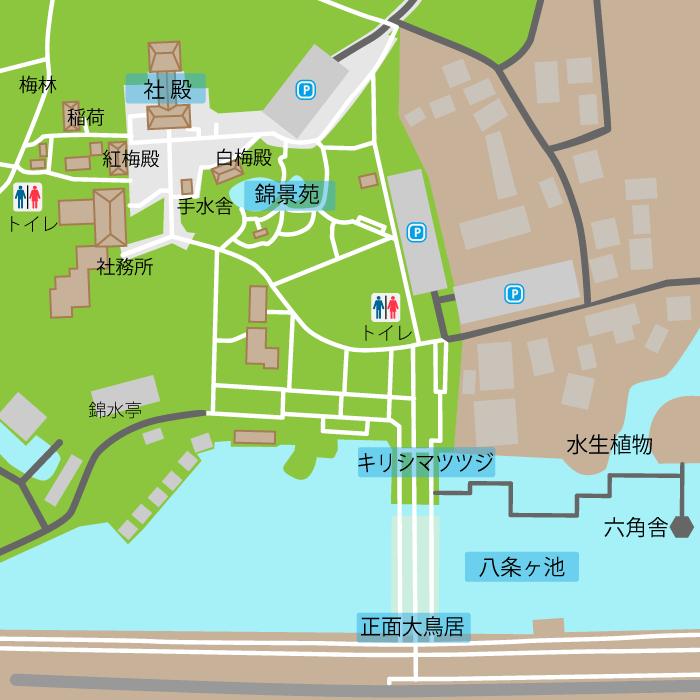 長岡天満宮境内図