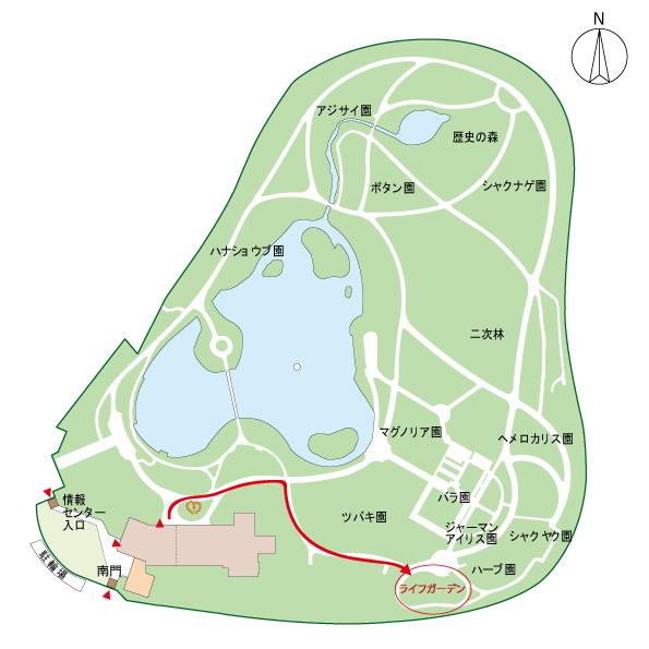 長居植物園園内MAP